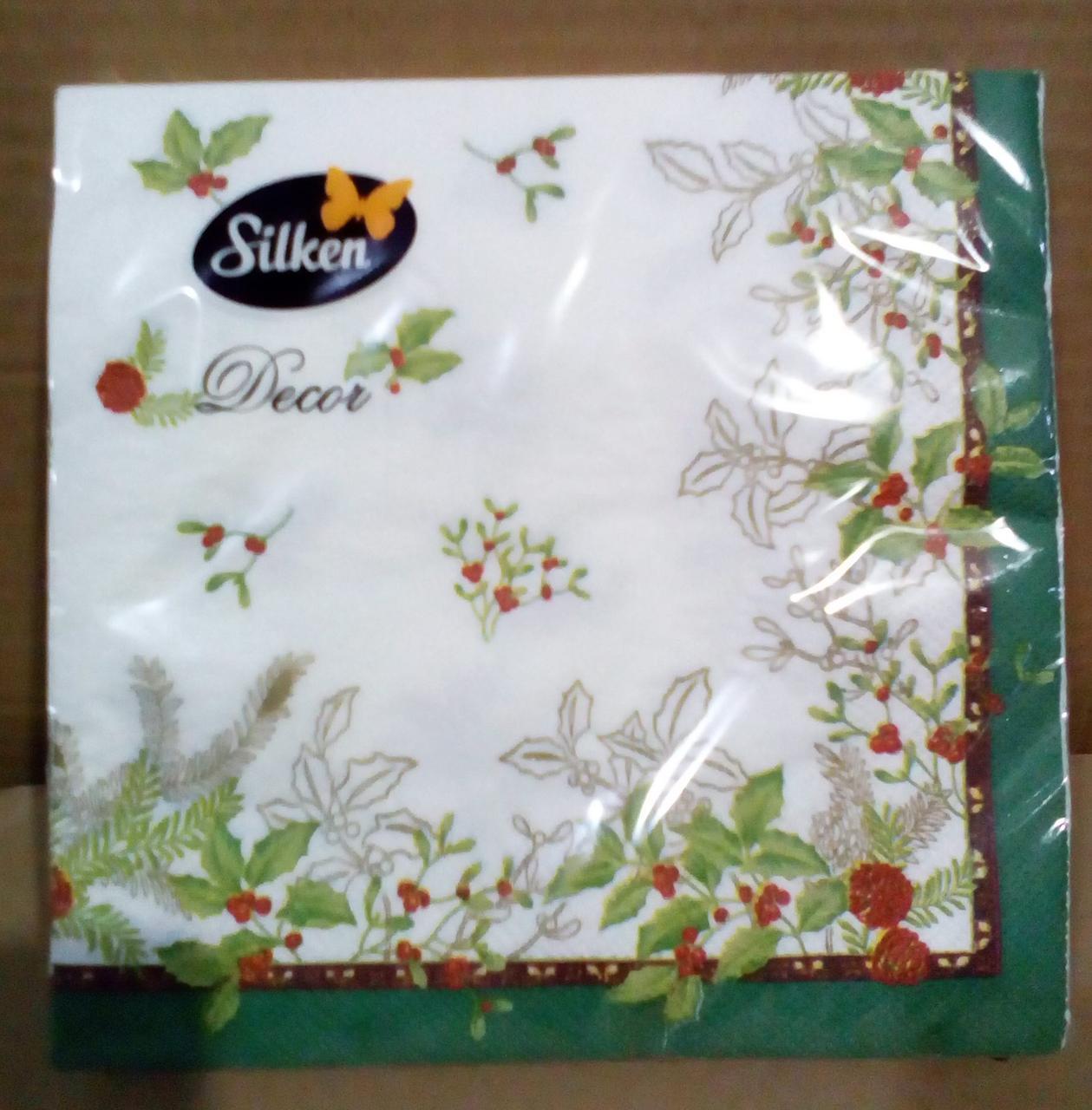 "Салфетка Silken 3-сл, ""Ніжність"" с печатью 20шт 33*33см"