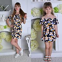 Комплект платьев хлопок 680грн мама 400 грн + дочка 330 грн