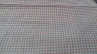 Льняная ткань для постельного белья в клеточку (шир. 220 см)