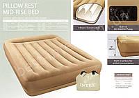 Надувная кровать Intex 152-203-38см с насосом  (67748)