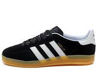 Кроссовки мужские Adidas Gazelle Indoor Black, адидас газель индор