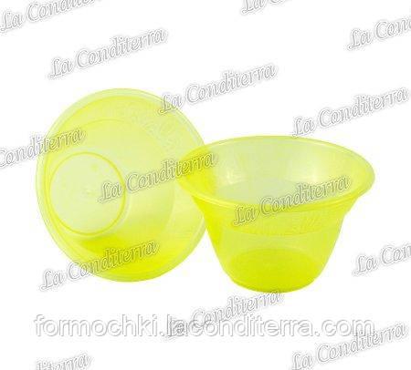 Жовта пластикова креманка «Rene» 140400 (300 мл)