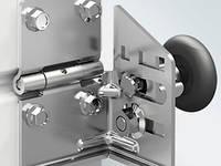 Ролик RBG700R-SS правый нержавеющий для ворот гаражных секционных Alutech ролет