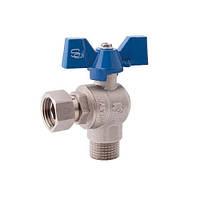 SD Forte кран шаровый угловой с накидной гакой для воды 3/4 х 3/4
