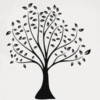 РАСПРОДАЖА! Виниловая наклейка - Черно-белое дерево с листьями