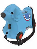 Детский чемодан на колесиках, голубой BIG 55352