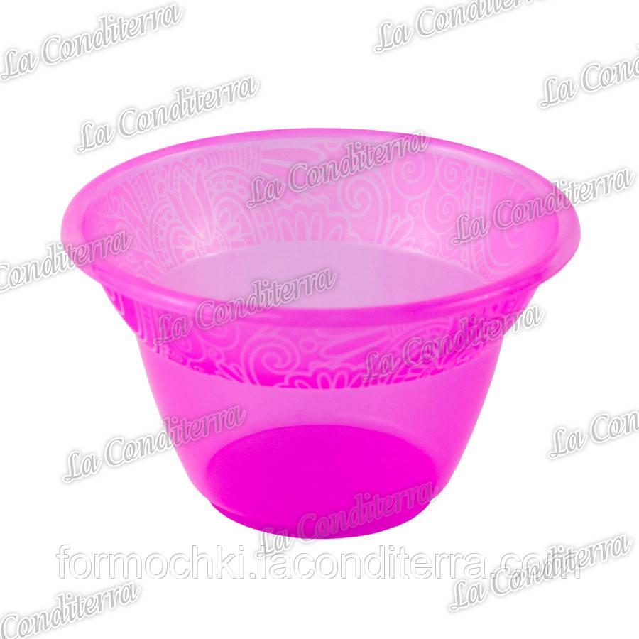 Розовая пластиковая креманка «Rene» 140400 (300 мл)