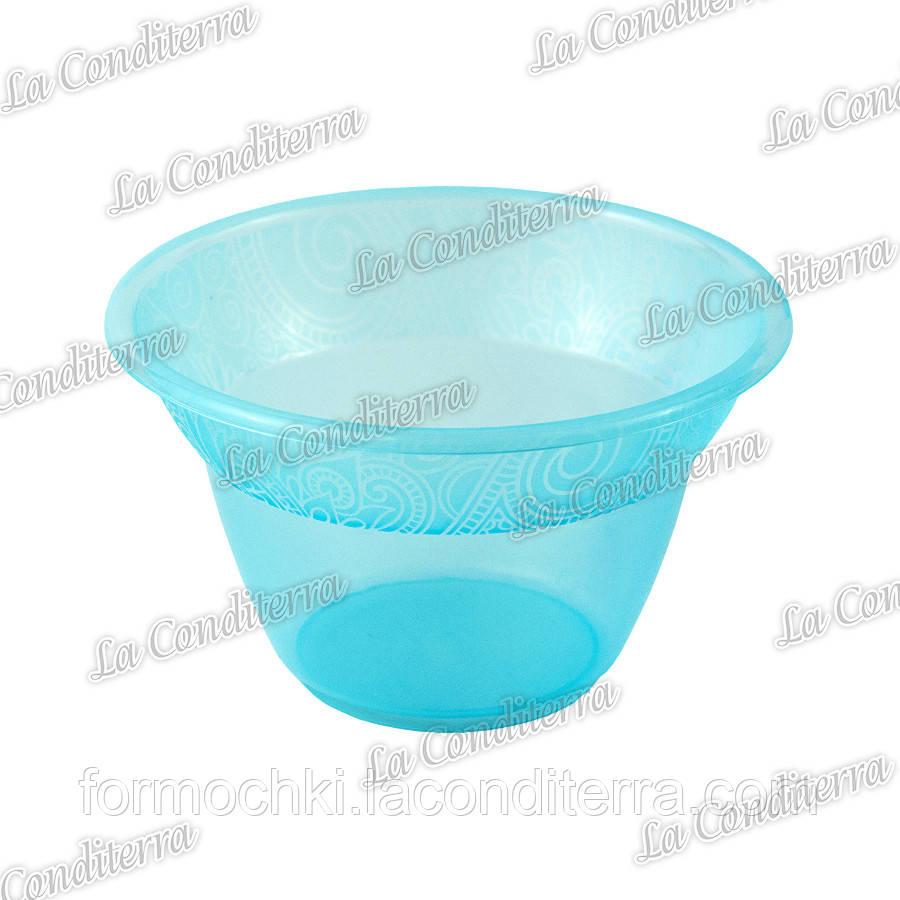 Голубая пластиковая креманка «Rene» 140400 (300 мл)