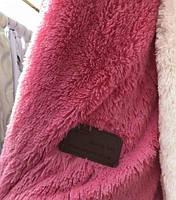 Покрывало меховое  160х200 цвет розовый