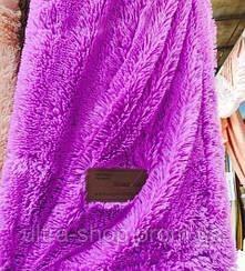Покрывало меховое 160х200 цвет фиолетовый
