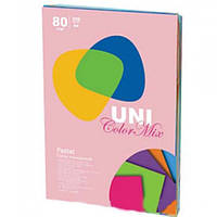 Бумага А4 (80 г/кв.м.) 250 лис., 5 цветов Pastel Mix (пастельные тона)