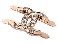 """Украшение """"Chanel"""" со стразами, цв. золото, 47970"""