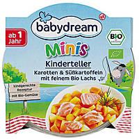 Babydream Minis Karotten&Süßkartoffeln mit feinem Bio Lachs - Морковь со сладким картофелем и лососем, 250 г