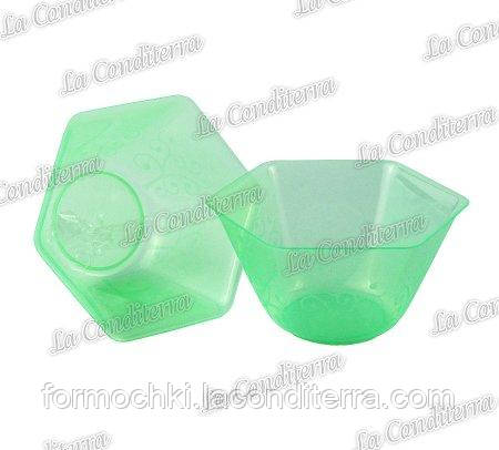 Зелена пластикова креманка «Backino» 020500 (300 мл)