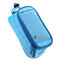 Велосипедная сумка на раму для смартфона Roswheel Polka голубая