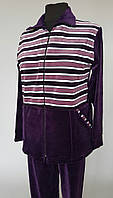 Женский велюровый костюм  в полоску Ботал