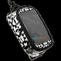 Велосипедная сумка на раму для смартфона Roswheel Waal чёрно-белая