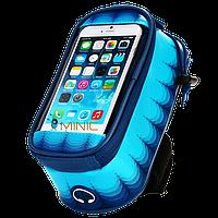Велосипедная сумка на раму для смартфона Roswheel Toss голубая
