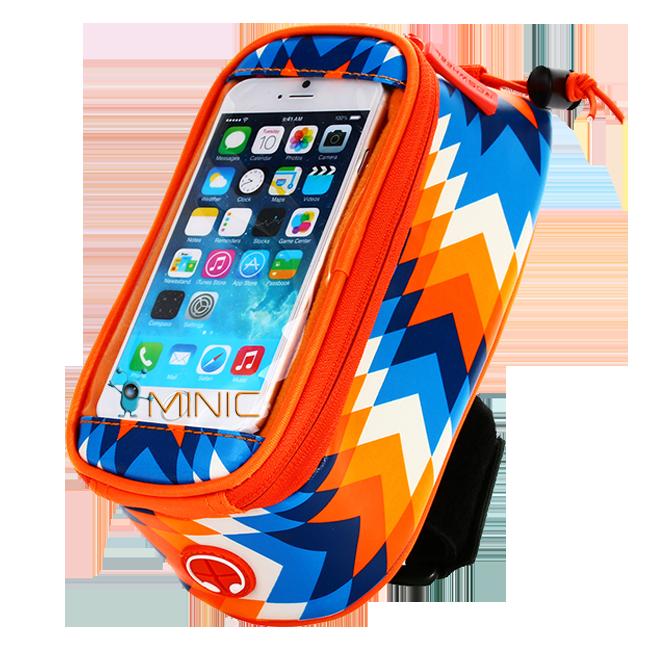 Велосипедная сумка на раму для смартфона Roswheel Trier оранжевая