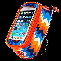 Велосипедная сумка на раму для смартфона Roswheel Trier оранжевая, фото 1