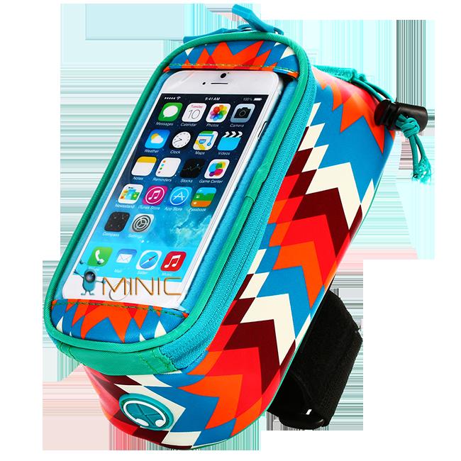 Велосипедная сумка на раму для смартфона Roswheel Trier бирюзовая