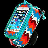 Велосипедная сумка на раму для смартфона Roswheel Trier бирюзовая, фото 1