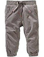 Серые вельветовые брюки  Lupilu Германия р.80