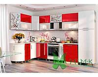 Кухня с крашеным МДФ фасадом
