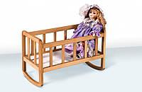 Кроватка для кукол ( Бук ) Ліжечко для ляльки, фото 1
