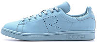 Женские кроссовки кеды Adidas x Raf Simons Stan Smith Blue Адидас Стэн Смит Раф Симонс голубые