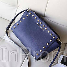 Сумка Michael Kors Selma Mini Blue, фото 3