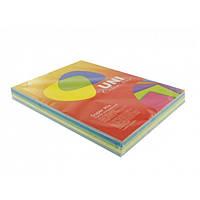 Бумага А4 (160 г/кв.м.) 125 листов, 5 цветов, Super Mix