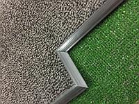Ковер на резиновой основе в лифт серый