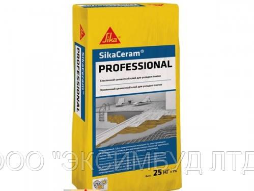 SikaCeram-PROFESSIONAL- Высококачественный эластичный клей для плитки на основе цемента класса C2TE, 25 кг.