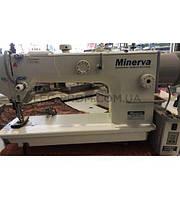 Minerva M0202JD прямострочная машина с тройным транспортом и прямым приводом.