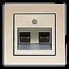 Розетка компьютерная двойная