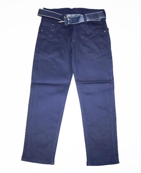 Детские брюки для мальчика с поясом, Синий