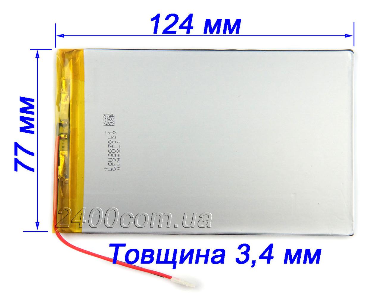 Аккумулятор 5500мАч 3.7в 3477125 мм для планшетов, универсальный 5500mAh 3.7v 3.4*77*125