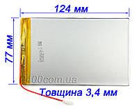 Акумулятор 5500мАч 3.7 в 3477125 мм для планшетів, універсальний 5500mAh 3.7 v 3.4*77*125
