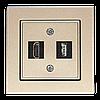 Розетка HDMI+USB