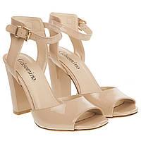 Босоножки женские Gelsomino (стильные, бежевые, на высоком каблуке, лаконичный дизайн)