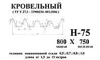 Профнастил оцинкованный Н 75 0.7мм