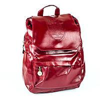 Рюкзак из эко-кожи бордового цвета