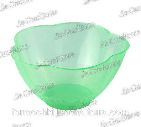 Зеленая пластиковая креманка «Golosa» 010500 (300 мл)
