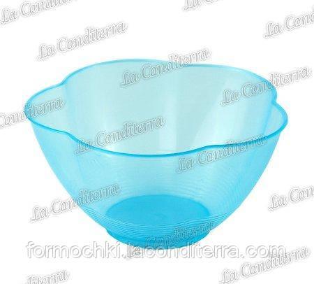 Голубая пластиковая креманка «Golosa» 010500 (300 мл)