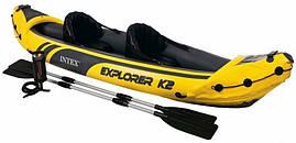 Байдарка двухместная INTEX Explorer K2