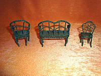 Коллекционная миниатюрная мебель! Ручная работа. Металл. Франция