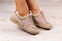 Женские кроссовки, замшевые, песочного цвета, на шнурках