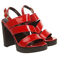 Босоножки женские Gelsomino (красные, на высоком каблуке та платформе, лаконичный дизайн)