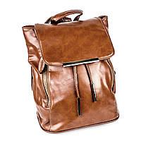 Коричневый рюкзак из эко-кожи